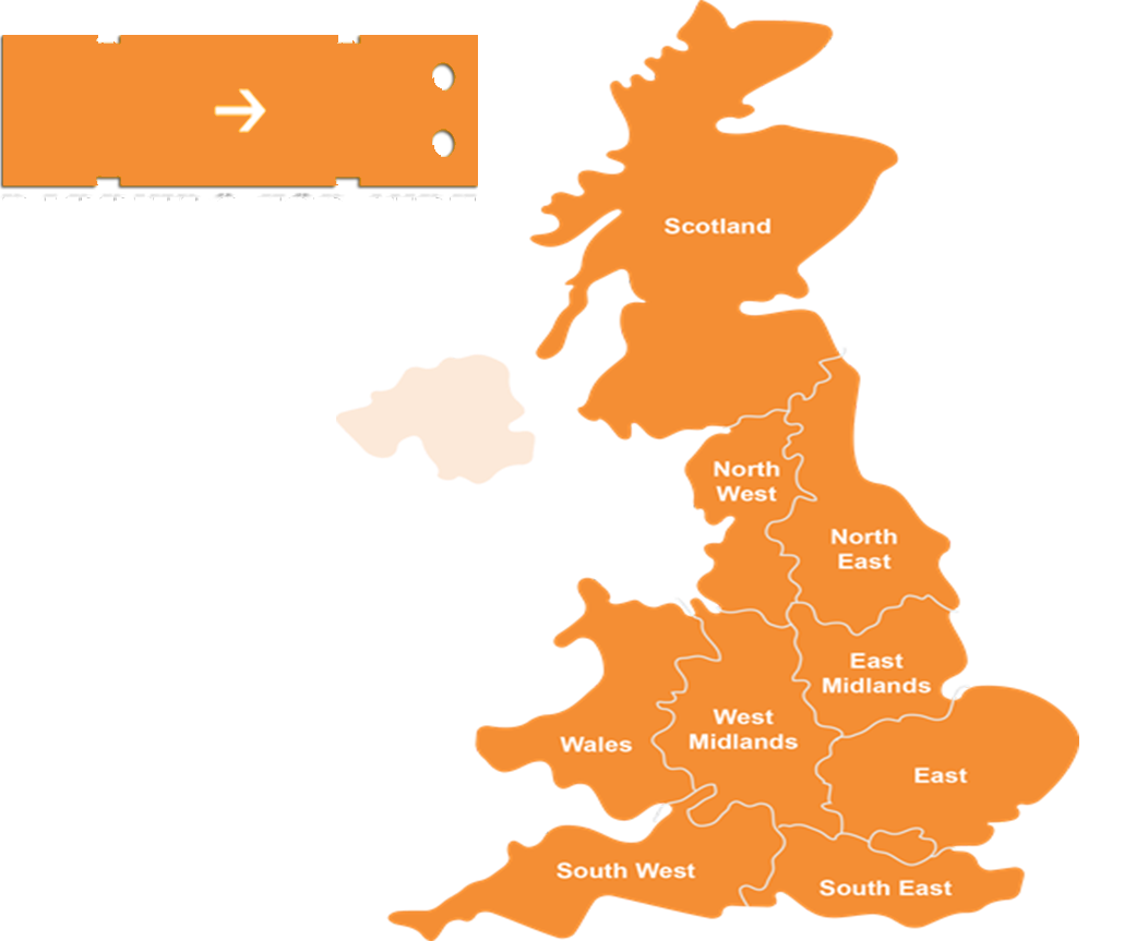 Barriers for Hire Map of the UK